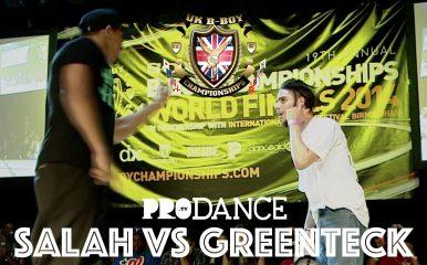 SALAHとGREENTECKが小競り合い!UK B-Boy 2014 POPING