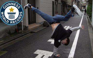 B-Boy ASHITAKA がブレイクダンスのギネス記録を更新!