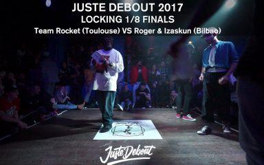 こちらも延長戦!JUSTE DEBOUT 2017 1/8FINALS