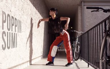 通路でクールに淡々と!Poppin Sumi  in Los Angeles