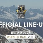 Red Bull BC One 2018 スイス! 出場 B-Boy ラインナップ