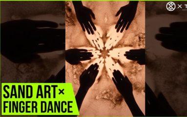 サンドアートとフィンガーダンスが芸術的!XTRAP×SILT